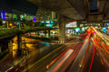Bangkok thailand february one of the most busiest shopping district in tourists can comfortably access by using skytrain Royalty Free Stock Photography