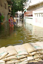 Bangkok Thailand ,flood protect Royalty Free Stock Image