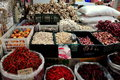 Bangkok, Thailand: Garlic & Chili Peppers at Market Royalty Free Stock Image
