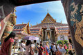 Bangkok thailand jan many people go to the grand palace also called wat phra kaew on january in Stock Photo