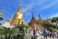 Bangkok thailand jan many people go to the grand palace also called wat phra kaew on january in Royalty Free Stock Photo