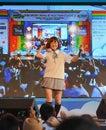 Bangkok thailand märz kazumi von sony music führt livekonzert in der schuluniform im thailändisch japan anime u musik festival Lizenzfreie Stockfotografie