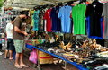 Bangkok, Thailand: Man Shopping for Souvenirs Stock Photos