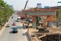 Bangkok thailand mar builder team are building new sky train station on local road bangkok thailand Stock Photos