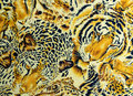 BANGKOK, THAILAND, 28 March 2016, Tiger and leopard and wild Animal pattern. skin background Royalty Free Stock Photo