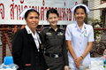 Bangkok thailand medical staff at political demonstrations ready to assist thais in the event of emergencies during the anti Royalty Free Stock Photo