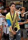 Bangkok, Thailand: Musician on Khao San Road Royalty Free Stock Photos