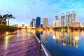 Bangkok thailand night city park Stock Image