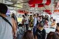 Bangkok, Thailand : People in passenger boat