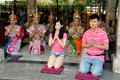 Bangkok, Thailand: People Praying at Erawan Shrine Stock Photography