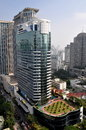 Bangkok thailand plaza athenee hotel five star luxury with its topiary roof garden on wireless road in Stock Photo