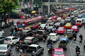 Bangkok, Thailand: Rush Hour Traffic Jam Royalty Free Stock Images