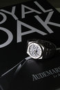 Bangkok thailand september royal oak a on in we shoot the collectible discontinued watch called moon phase series from audemars Royalty Free Stock Photos