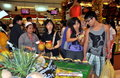 Bangkok, Thailand: Shoppers in Supermarket Stock Image