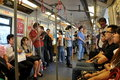 Bangkok, Thailand: Skytrain Passengers Stock Photo