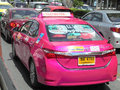 Bangkok thailand taxi meter cab in bangkok choice for you they have only and very colorful can see green yellow color red color Stock Photos