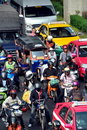 Bangkok, Thailand: Traffic on Rama I Road Royalty Free Stock Photo