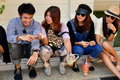 Bangkok, Thailand: Trendy Thai Youths Stock Photo