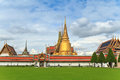 Bangkok thailand wat phra kaew and grand palace Royalty Free Stock Photo