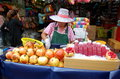 Bangkok, Thailand: Woman Selling Pomegranates Royalty Free Stock Photography