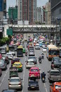 Bangkok, Traffic. Stock Photo