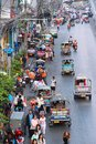 Bangkok tuk tuks december people drive in heavy traffic on december in is the biggest city in thailand with million people Stock Image