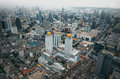 Bangkok view above view from baiyoke tower ii tallest building in the city and hotel in southeast asia thailand Royalty Free Stock Images