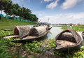 Bangladesh in the rainy season on the outskirts of dhaka capital of all fields are filled with water Royalty Free Stock Photo