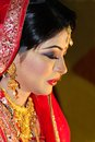 Bangladeshi bride portrait of a Royalty Free Stock Images