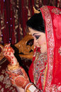 Bangladeshi bride portrait of a Royalty Free Stock Photo