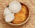 Bangladeshi ravioli in a wooden bowl Stock Image