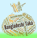 Bangladeshi taka represents foreign exchange and coinage meaning rate bdt Royalty Free Stock Photography