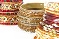 Bangle, Indian bracelets isolated Royalty Free Stock Photo