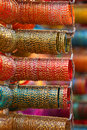 Bangles colorful are up for sale out side the store Royalty Free Stock Photography