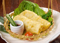 Banh trang chinese style typically used in vietnamese nem dishes Royalty Free Stock Images