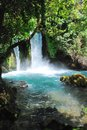 Banias falls with azure blue water Stock Image