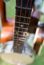 Banjo detail of a with selective focus Royalty Free Stock Photos