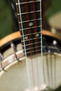 Banjo detail of a with selective focus Royalty Free Stock Photo