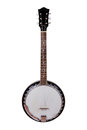 Banjo a isolated on a white background Royalty Free Stock Images