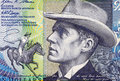 Banjo paterson on dollars banknote from australia australian bush poet journalist and author Stock Photography