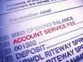 Banka účet služba odmena vyhlásenie