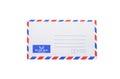Bank airmail envelope Royalty Free Stock Photo