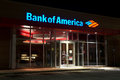 Bank of america jacksonville fl mar a branch at night located in jacksonville florida on march is the second Stock Photography