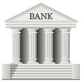Bank Building Icon Royalty Free Stock Photo