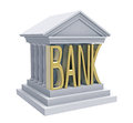 Bank building isolated on white d render Royalty Free Stock Images