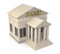 Bank building top view of a d render Stock Photo