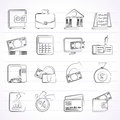 Bank business and finance icons vector icon set Stock Photography