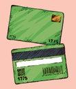 Bank card. Vector drawing
