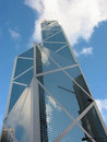 Bank of China, Central district, hk Stock Photos