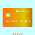 Bank cit card it is icon . Royalty Free Stock Photo